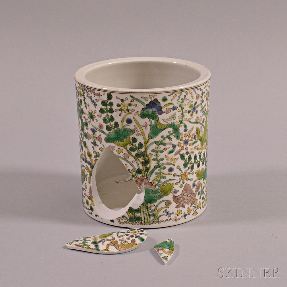 Enameled Porcelain Brush Holder