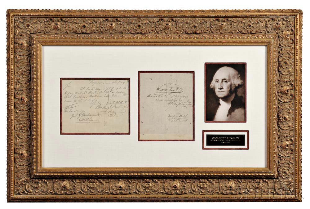 Washington, George (1732-1799) Autograph Endorsement Signed, Mount Vernon, 24 June 1799.