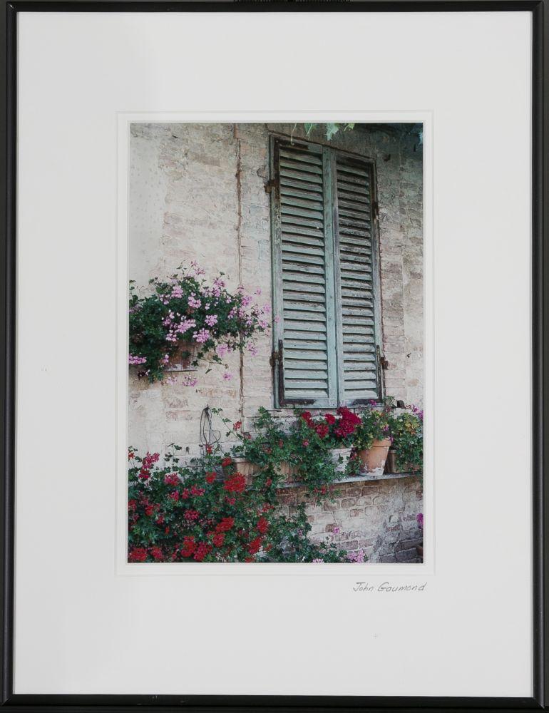 John Gaumond (Massachusetts), Siena I, Shuttered Window and Flowers