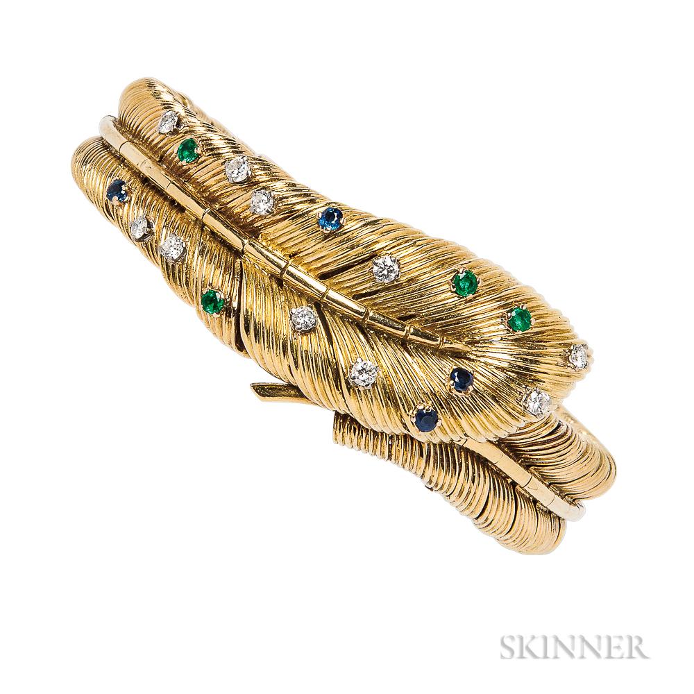 18kt Gold Gem-set Covered Wristwatch, Tiffany & Co.