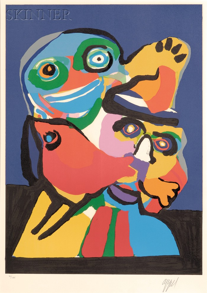 Karel Appel (Dutch, 1921-2006)      Untitled (Two Figures)