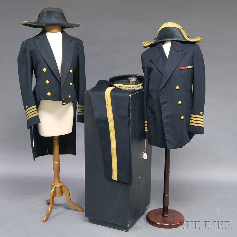 Two Uniforms of Naval Officer Captain Victor Jackson