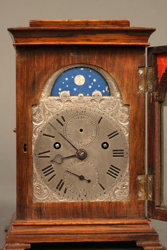 Yonge & Son, Rosewood-veneered, Quarter-striking Miniature Table Clock
