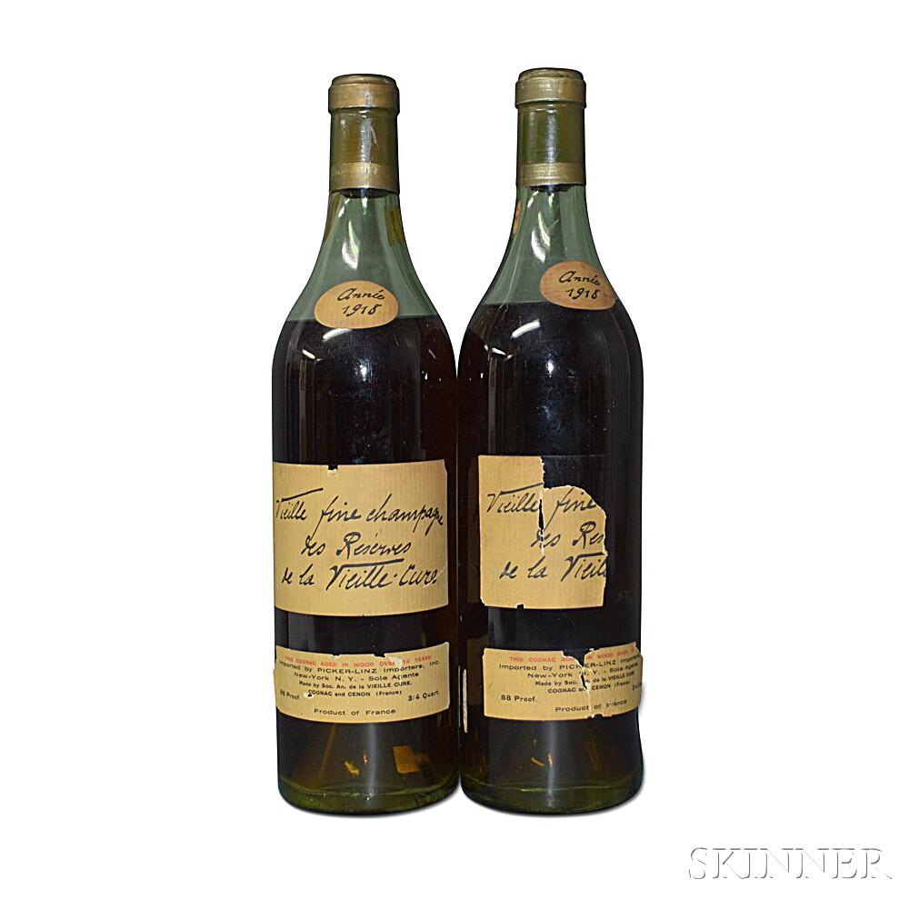 Vieille Cure Cognac 15 Years Old 1918, 2 4/5 quart bottles