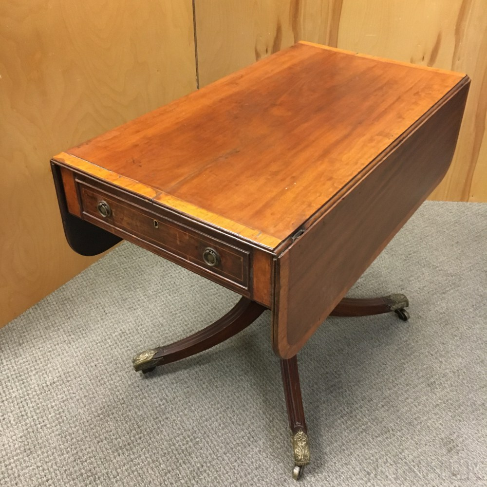 George IV Inlaid Mahogany Drop-leaf Table