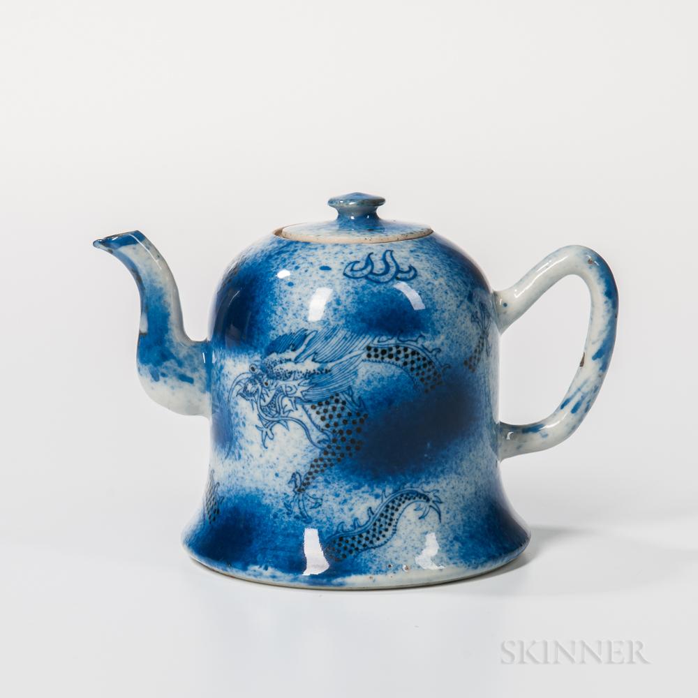 Blue and White Porcelain Teapot