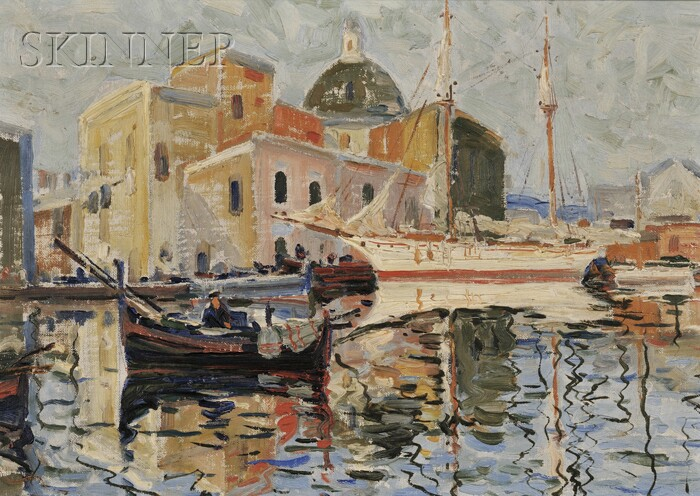 Attributed to Anthony Thieme (American, 1888-1954)      Harbor View