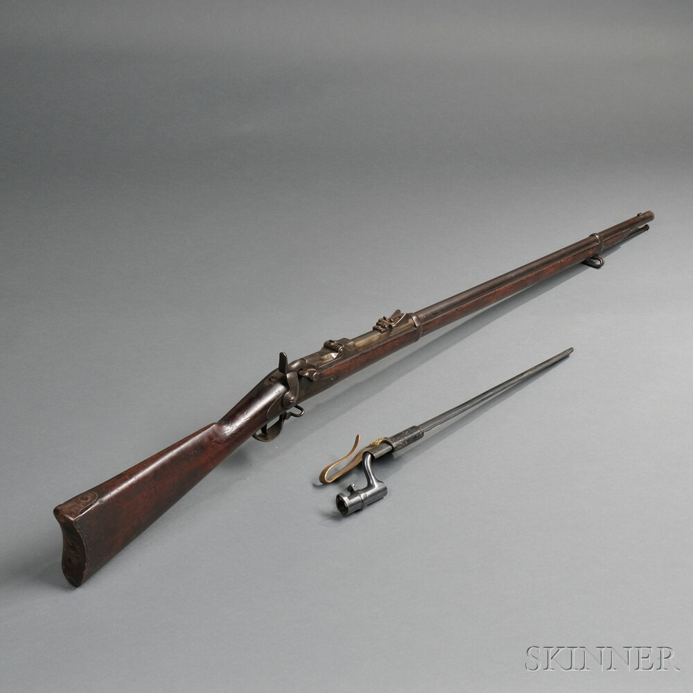 Model 1873/79 Trapdoor Springfield Rifle with Bayonet and Scabbard
