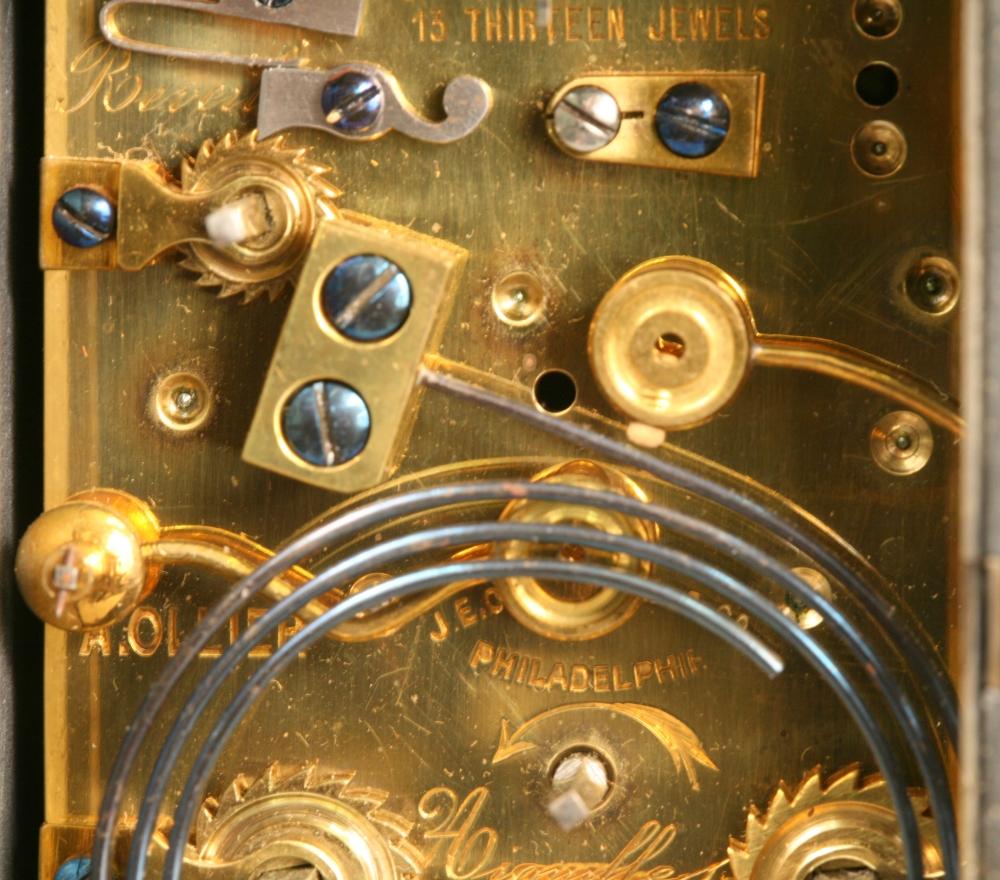 Lapis Lazuli Hour-repeating and Alarm Carriage Clock