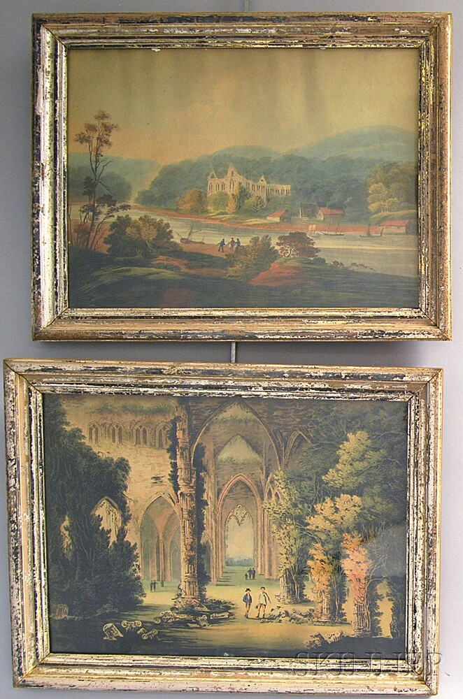 Two Early Framed Aquatints