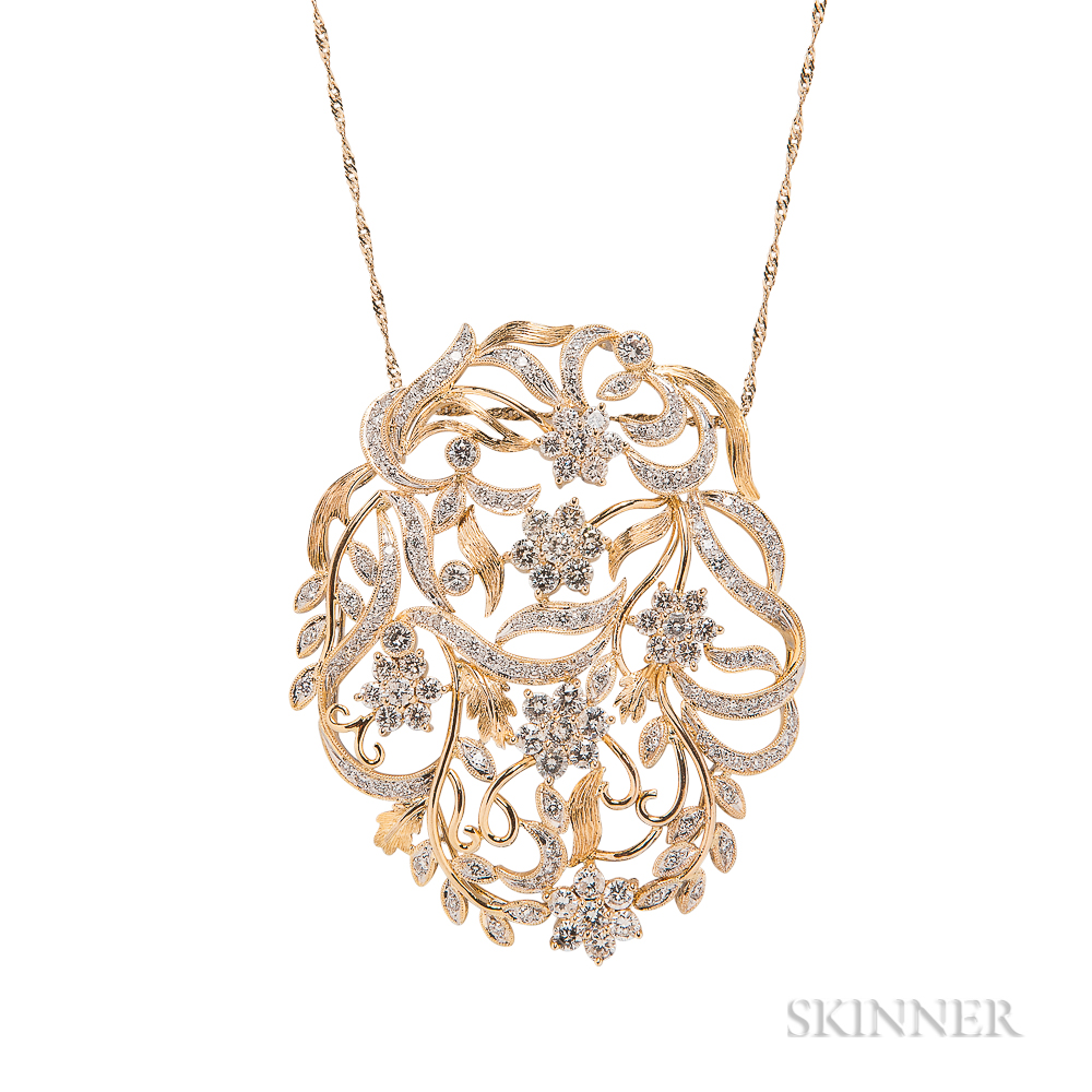 18kt Gold and Diamond Pendant