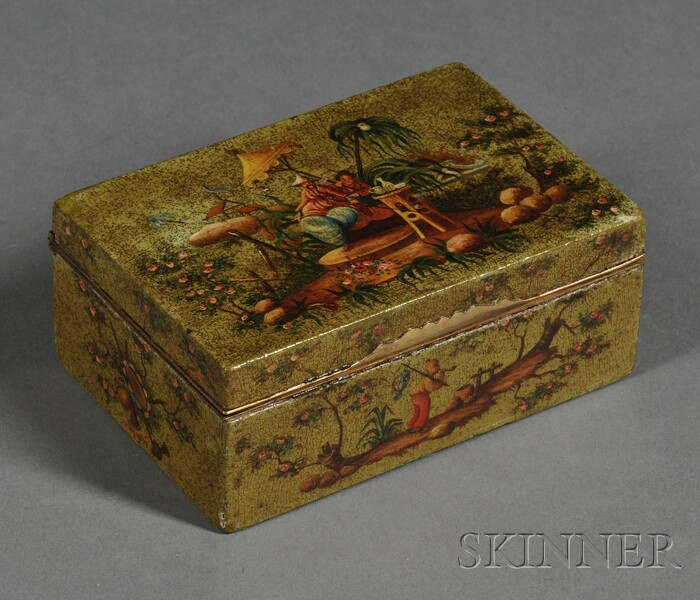 Chinoiserie Decorated Lacquer Box