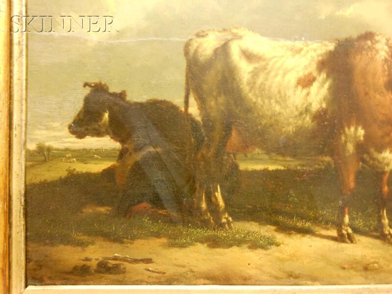 School of Paulus Potter (Dutch, 1625-1654)      Cattle in a Farmyard