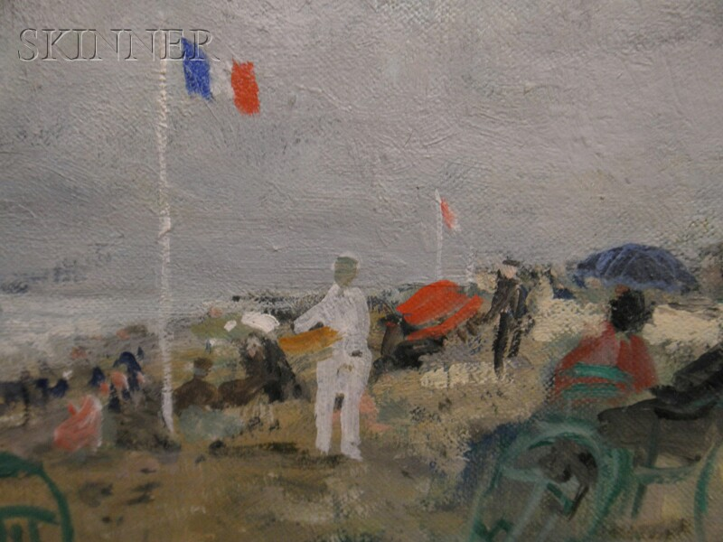 François Gall (French, 1912-1987)      Two Beach Scenes in Normandy