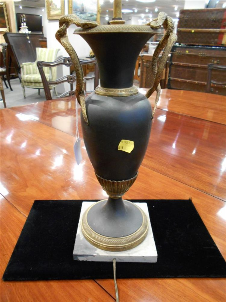 Pair of Charles X Gilt-bronze and Patinated Metal Vases
