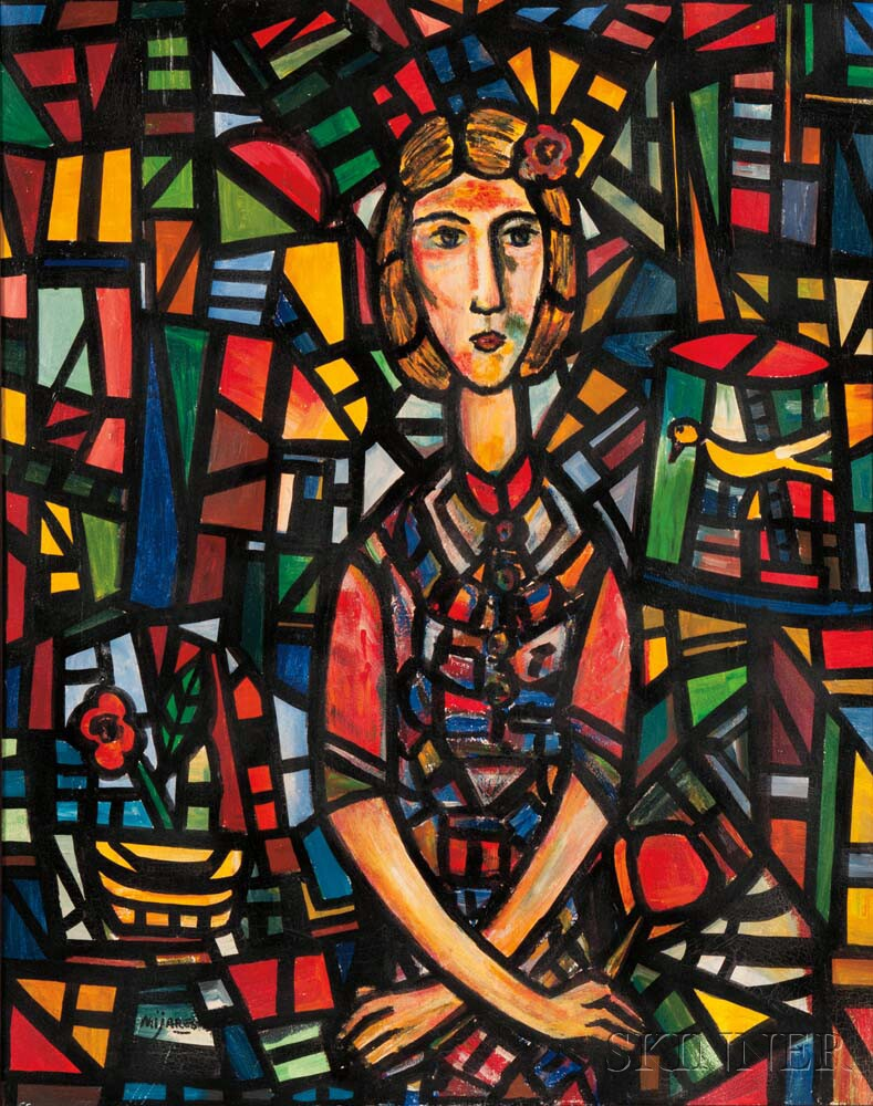 José María Mijares (Cuban, 1921-2004)      Portrait of a Woman