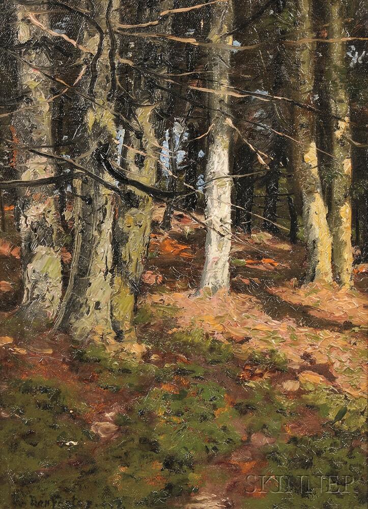 Benjamin (Ben) Foster (American, 1852-1926)      Woodland Light