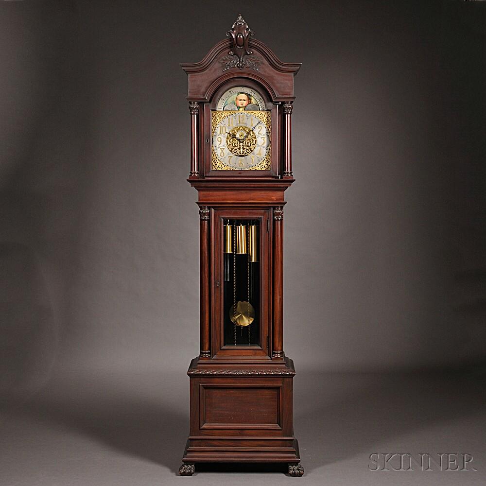 Mahogany Eight Tubular Bell Chime Clock