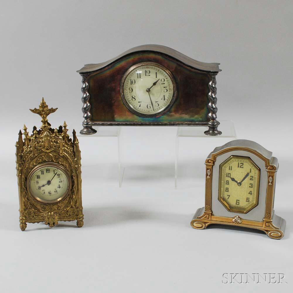 Three European Table or Desk Clocks