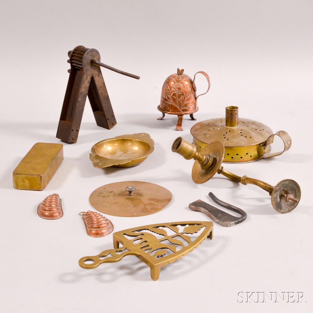 Nine Decorative Metal Items