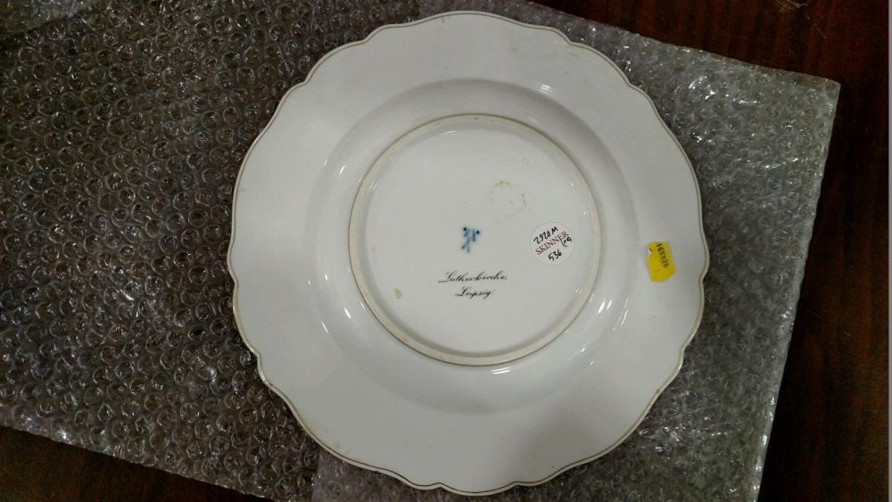 Pair of Meissen Porcelain Topographical Plates