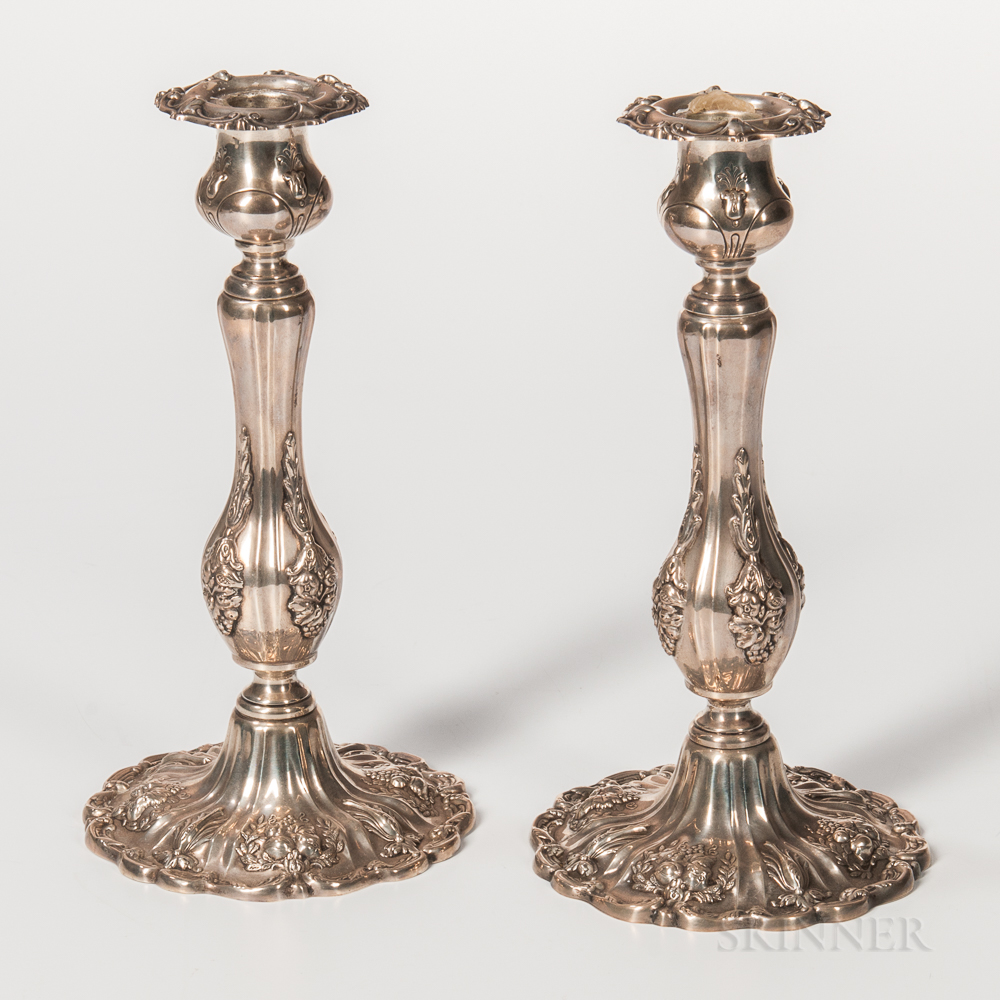 "Pair of Reed & Barton ""Francis I"" Sterling Silver Candlesticks"