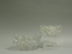Four Colorless Cut Glass Bowls.