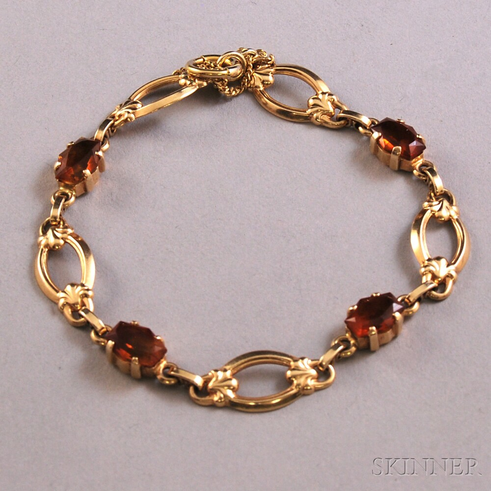 Tiffany & Co. 14kt Gold and Citrine Bracelet