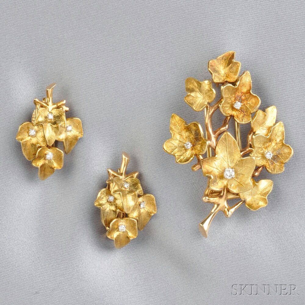 14kt Gold and Diamond Suite, Cartier