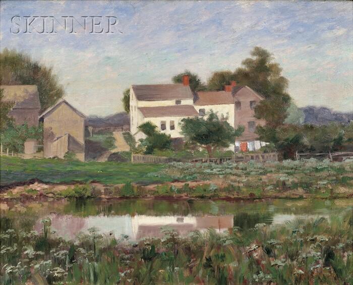 A. Francis Wattson (American, 19th Century)      Reflection of a Farmhouse