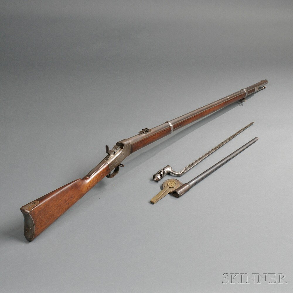 Springfield Model 1871 Rolling Block Rifle with Bayonet and Scabbard