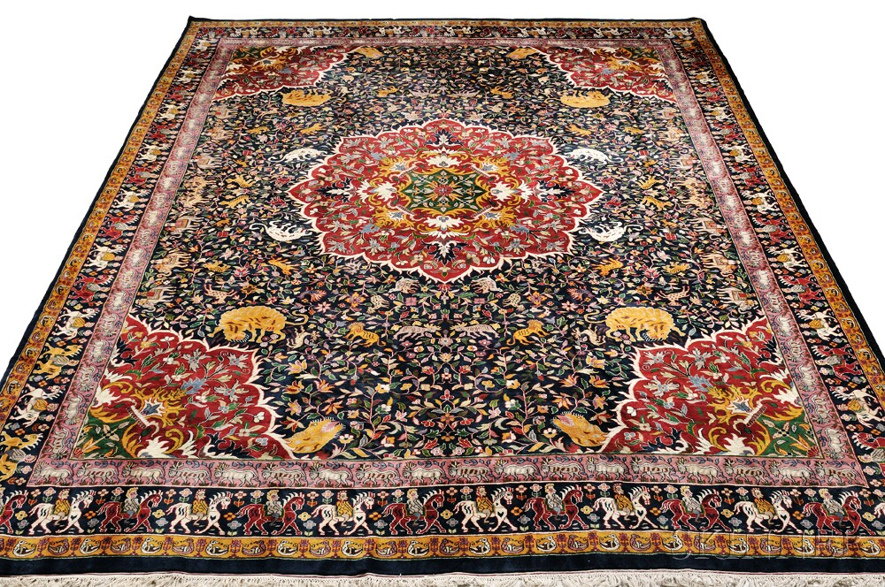 "Indo-Kashan ""Hunting"" Carpet"