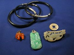 Group of Asian-inspired Jewelry Items