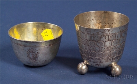 Two Austro-Hungarian Silver Cups