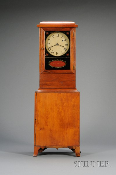 Cherry Shelf Clock by Silas Parsons