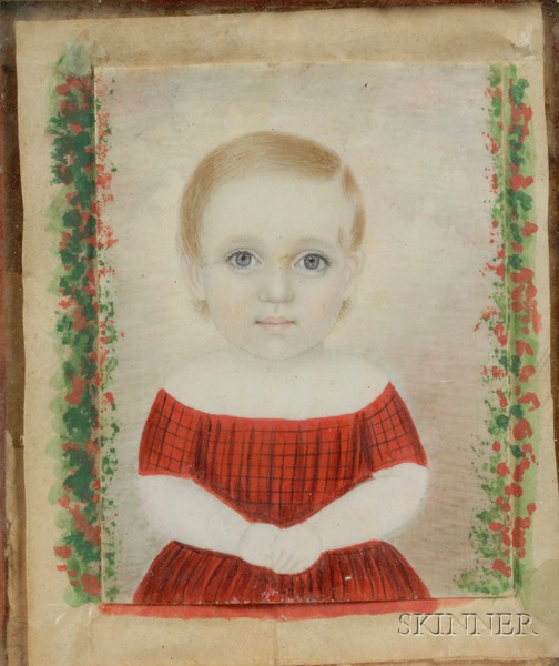 Two Portrait Minature on Ivory of Jane Appleton Pierce