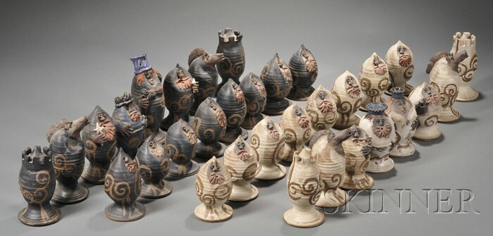Davis Stoneware Chess Set