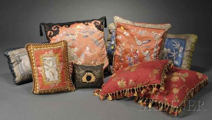 Eight Assorted Pillows
