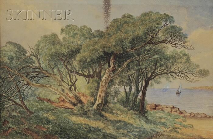 Mary Josephine Walters (American, 1837-1883)      Coastal Landscape