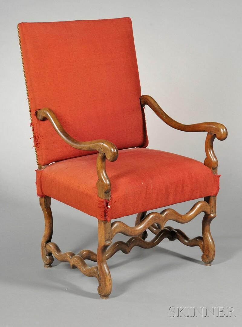 Georgian-style Mahogany Library Chair