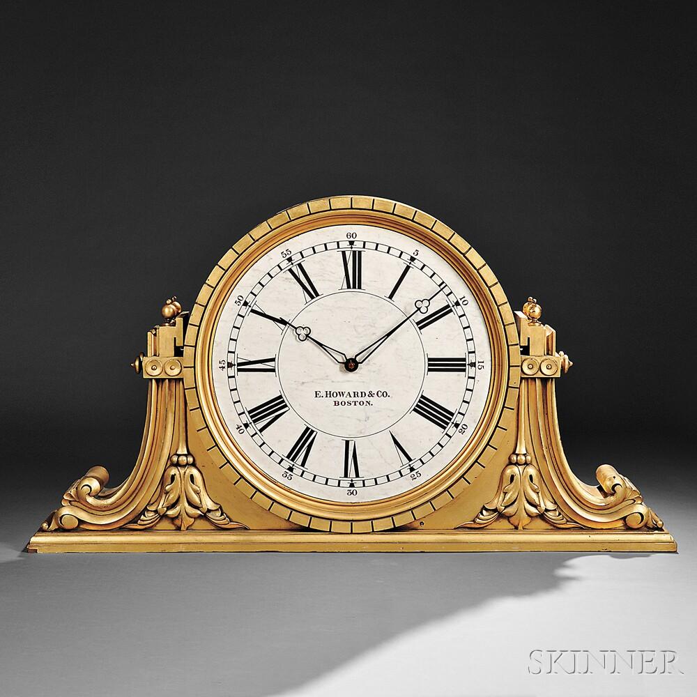 E. Howard & Co. No. 29 Gilded Mahogany Gallery Clock