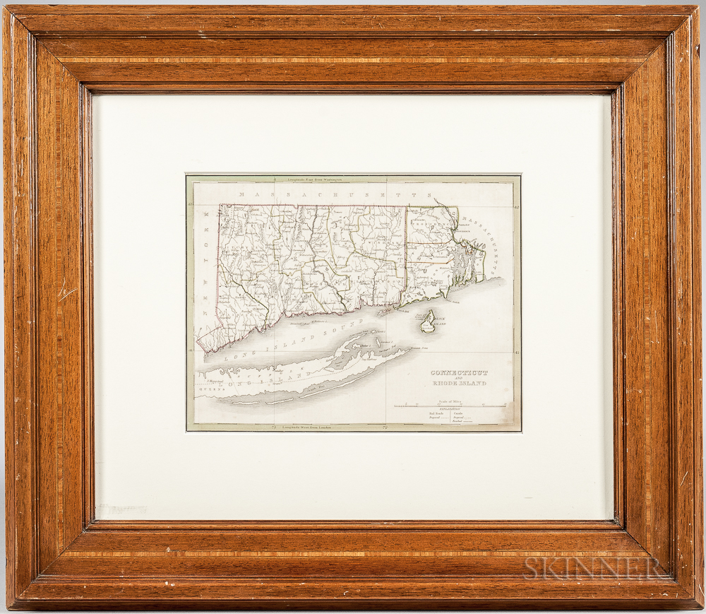 """""""Connecticut and Rhode Island"""" Map"""
