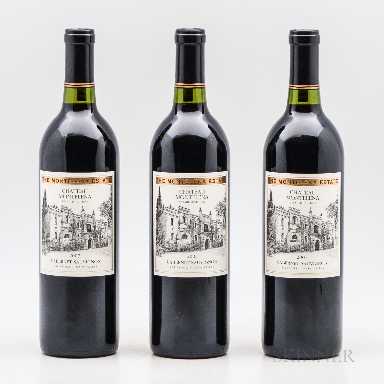 Chateau Montelena Cabernet Sauvignon Estate 2007, 3 bottles
