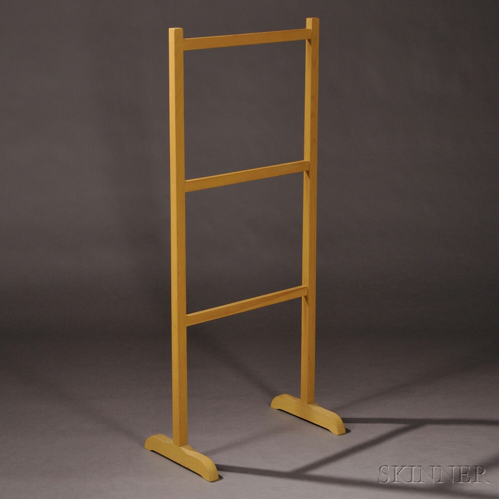Yellow-painted Reproduction Shaker Drying Rack