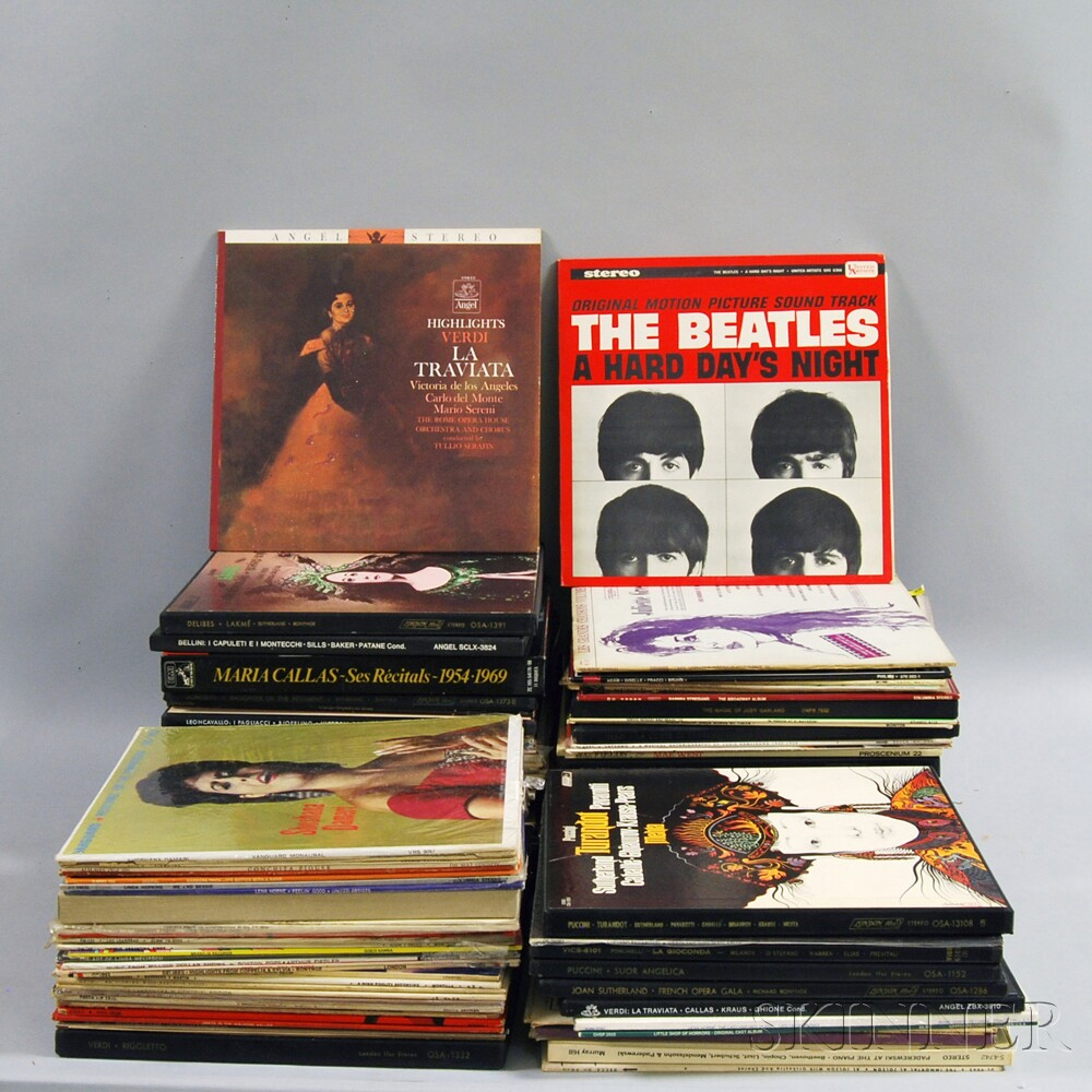 Large Group of Vinyl Records.     Estimate $300-500