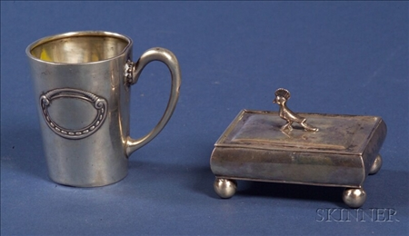 Two Small Continental Silver Tablewares