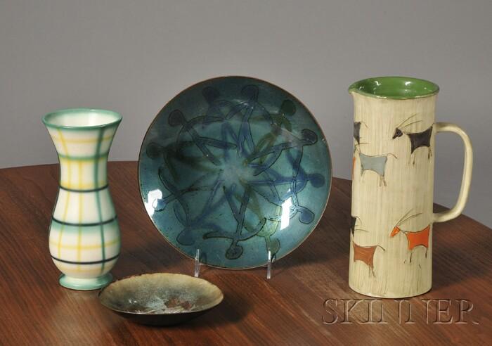 Four Mid-century Decorative Table Items