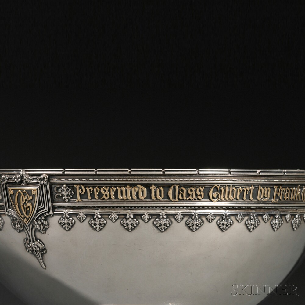 Sterling Silver Presentation Punch Bowl Commemorating the Opening of the F.W.   Woolworth Building in New York City in 1913
