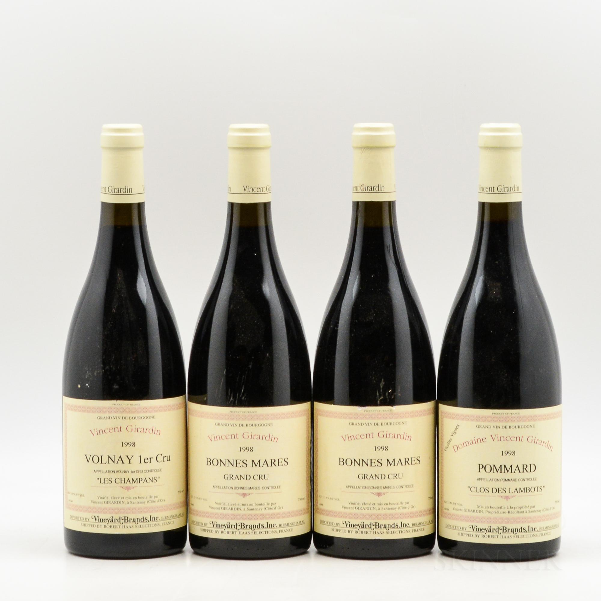 Vincent Girardin, 4 bottles