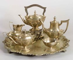 Gorham Sterling Five-Piece Tea and Coffee Service
